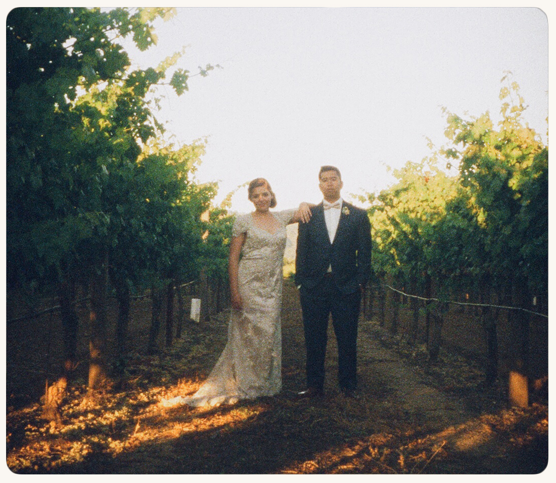 Sara & Ed in Vineyard