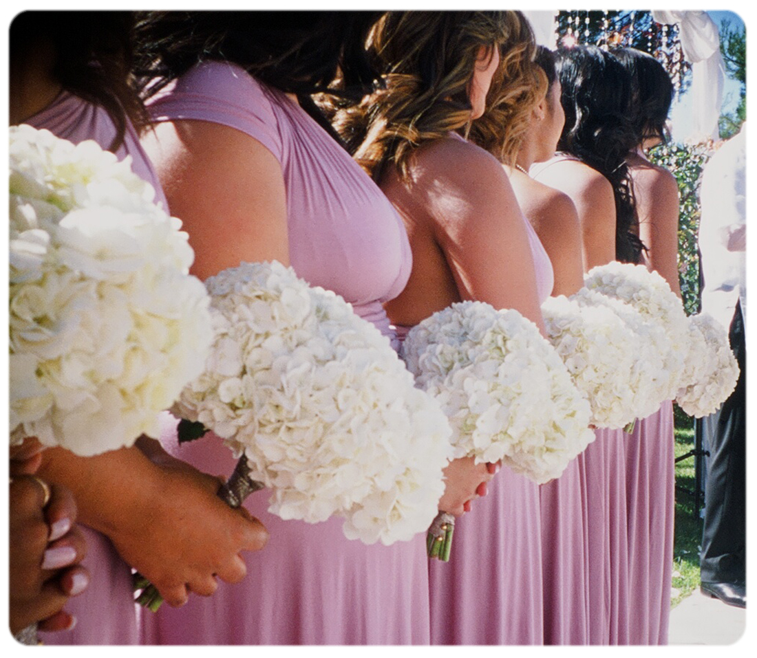 Looking-down-bridesmaids