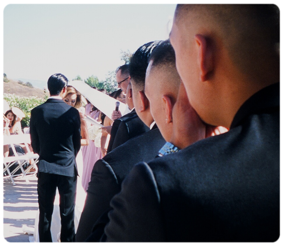 Looking-down-groomsmen